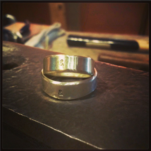 Sterling silver. Ring Band workshop